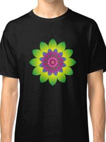 Retro Mandala Flower Power Classic T-Shirt