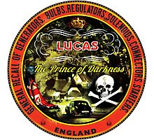 Lucas Vintage Electrics  ~ The Prince of Darkness Photographic Print