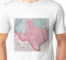 Vintage Map of Texas (1853) Unisex T-Shirt