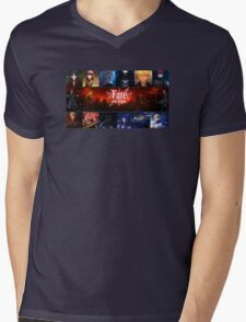 Fate Stay Night Mens V-Neck T-Shirt