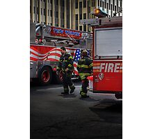 FDNY Firefighter fireman fire truck Illustration Painting Photographic Print
