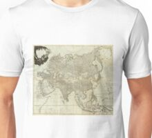Vintage Map of Asia (1757) Unisex T-Shirt