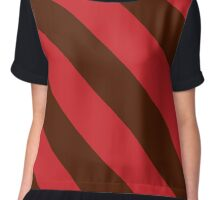 Providence Rhode Island Red & Maroon Team Color Stripes Chiffon Top
