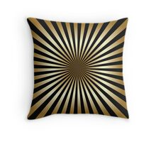 Zoom, gold,black,stripes,diagonal,trendy,modern,elegant,chic,pattern Throw Pillow