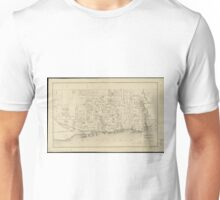 Vintage Map of Toronto Canada (1880) Unisex T-Shirt