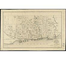 Vintage Map of Toronto Canada (1880) Photographic Print