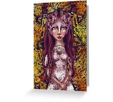 Fall Fairy Princess Greeting Card