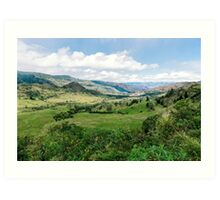 Yunguilla Valley in the Andes Mountains, Ecuador Art Print