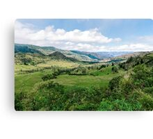 Yunguilla Valley in the Andes Mountains, Ecuador Canvas Print