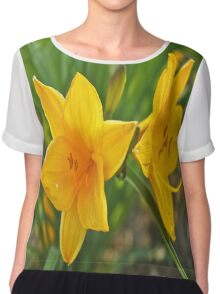 Yellow Iris Chiffon Top