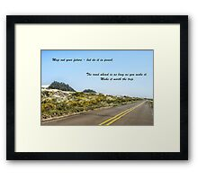 Road to your future Framed Print