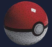 Low Poly Poke Ball One Piece - Long Sleeve