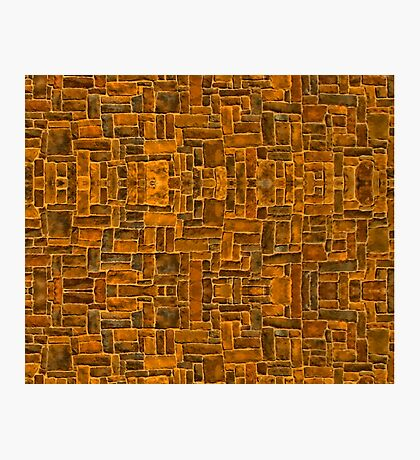 Garage Bricks Photographic Print