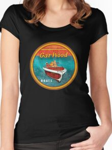 Gar Wood vintage wooden boats USA Women's Fitted Scoop T-Shirt