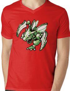 Scyther - Pokemon Red & Blue Mens V-Neck T-Shirt
