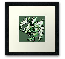 Scyther - Pokemon Red & Blue Framed Print