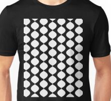 Eames Era Retro 60s Waves Pattern  (White) Unisex T-Shirt