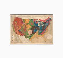 Vintage United States Geological Map (1872) Unisex T-Shirt