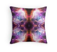 Purple Nebula Clouds Throw Pillow