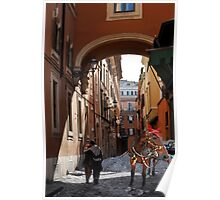 Ancient small street of Rome. Poster