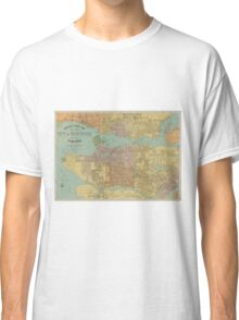 Vintage Map of Vancouver Canada (1920) Classic T-Shirt