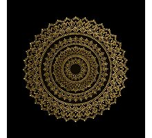Black and Gold Mandala Photographic Print