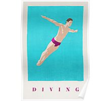 SUMMER GAMES / Diving Poster