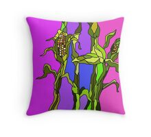 Corn Stalk Impression  Throw Pillow