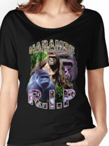 R.I.P. Harambe Vintage Hip-Hop Women's Relaxed Fit T-Shirt