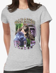 R.I.P. Harambe Vintage Hip-Hop Womens Fitted T-Shirt