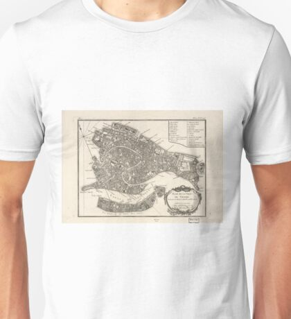 Vintage Map of Venice Italy (1764) Unisex T-Shirt