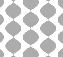 Eames Era Retro 60s Waves Pattern  (40% Grey) Sticker