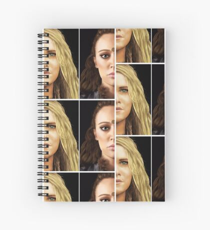 Clexa portraits Spiral Notebook