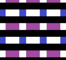 Black, White, Blue, and Purple Pattern Sticker