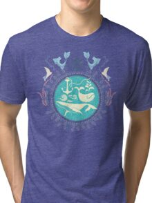 The Paradise: Whales world Tri-blend T-Shirt
