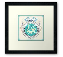 The Paradise: Whales world Framed Print