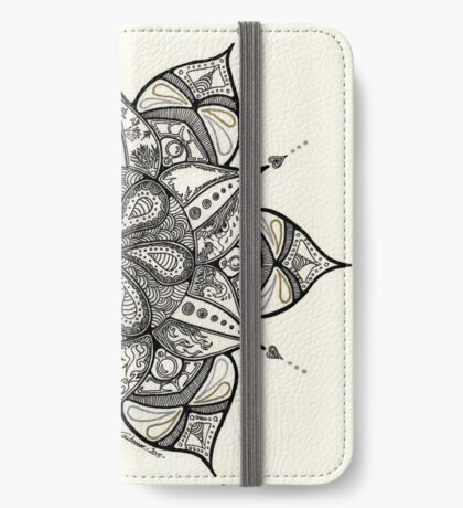 Mandala with nature elements - Fire, Water & Ice iPhone Wallet/Case/Skin
