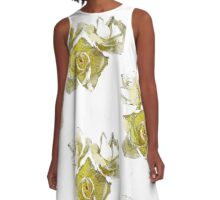 Yellow friendship Roses A-Line Dress