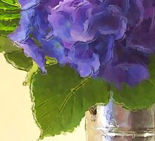 Hydrangeas in Tin Bucket by Fay270