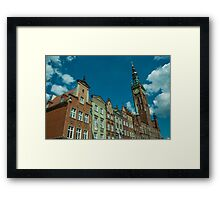 Clock Tower Gdansk  Framed Print