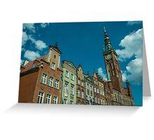 Clock Tower Gdansk  Greeting Card
