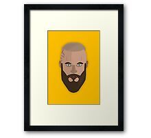 Ragnar Lothbrok Vector Design Framed Print