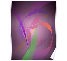 Purple Gray Gentle Abstract Design Poster
