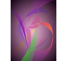 Purple Gray Gentle Abstract Design Photographic Print