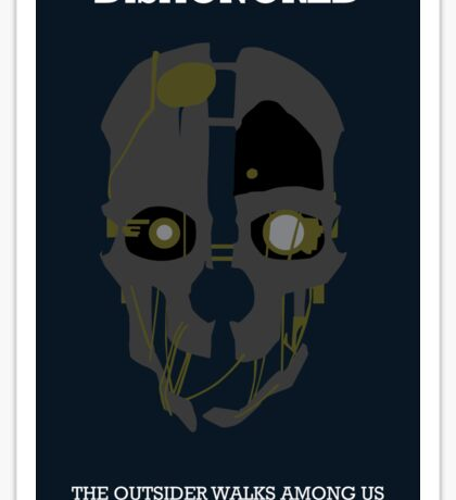Dishonored - Minimalist Corvo Mask Sticker