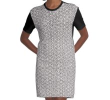 Geometric Floral Collection- Pattern 30 Graphic T-Shirt Dress