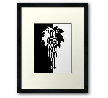 Black N White Framed Print