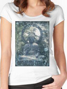 Abstract Zen Buddha Women's Fitted Scoop T-Shirt
