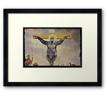 Harambe our Holy father Framed Print
