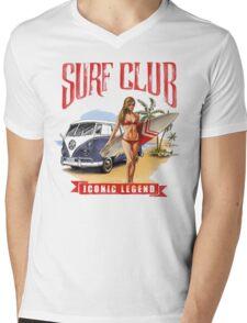 VW Kombi Beach Design Mens V-Neck T-Shirt
